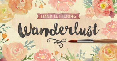 Wanderlust Letters [2 Fonts]