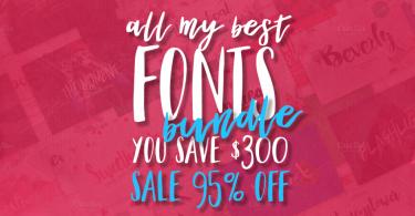 32 Fonts Bundle [42 Fonts]