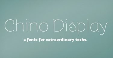 ITC Chino Display [4 Fonts]