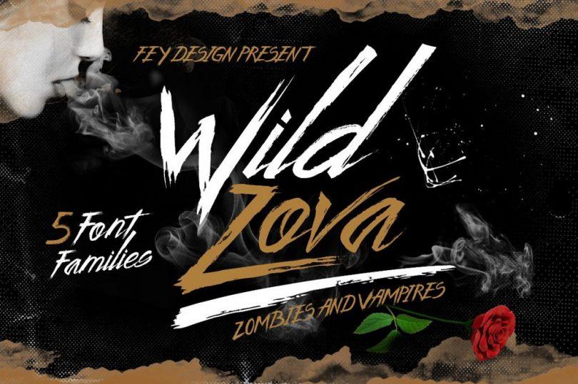 Wild Zova [5 Fonts]