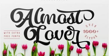 Almost Lover [1 Font + Extras]