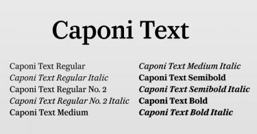 Caponi Text [10 Fonts]
