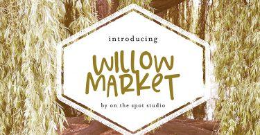 Willow Market & Bonus Script [2 Fonts]