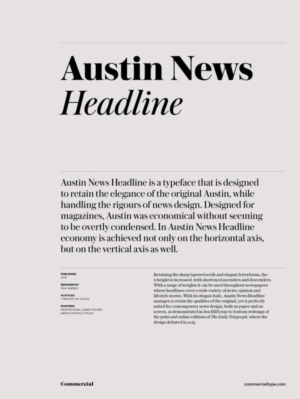 Austin News Headline Super Family [16 Fonts]