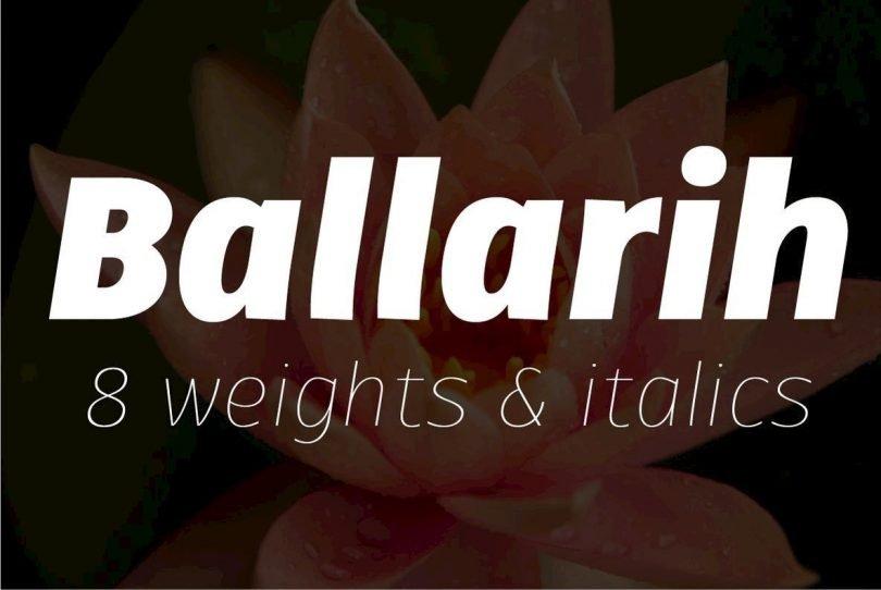 Ballarih Super Family [16 Fonts]