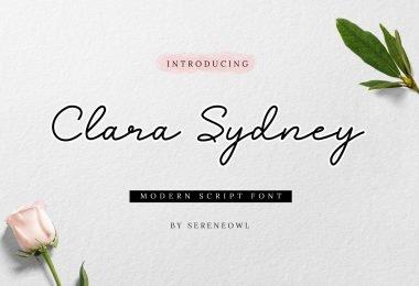 Clara Sydney [1 Font]